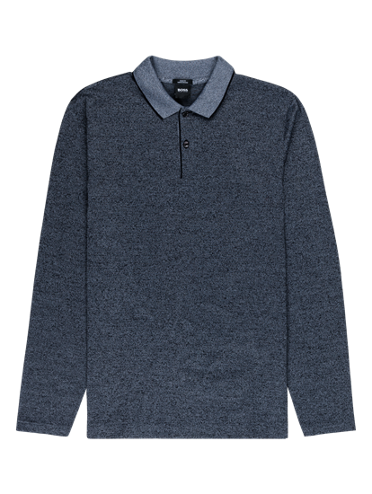 Bild von Polo-Shirt im Slim Fit in melierter Optik