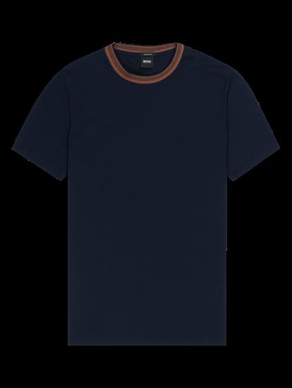 Bild von T-Shirt im Regular Fit mit Kontrast-Kragen