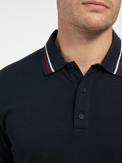 Image sur Polo Regular Fit à rayures contrastées
