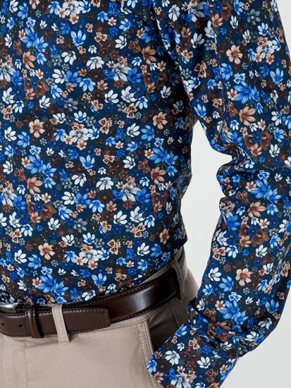 Image sur Chemise slim fit avec imprimé fleuri