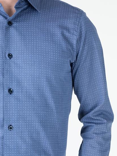 Image sur Chemise Slim Fit à micro-motifs