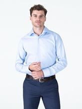 Bild von Hemd im Slim Fit mit Fischgratstruktur