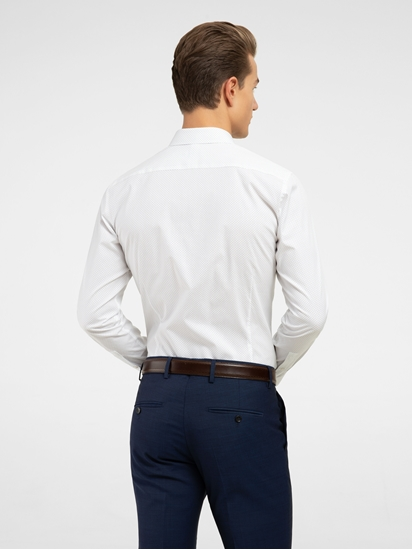 Image sur Hemd im Slim Fit mit Micro-Punkten