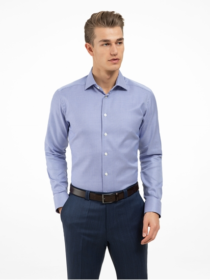 wholesale dealer a30bf a44ed Hemd im Slim Fit mit Micro-Muster