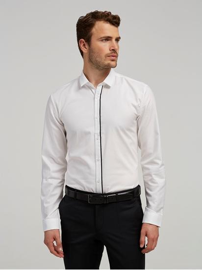 Bild von Hemd im Extra Slim Fit mit Struktur und Kontraststreifen