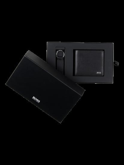 Bild von Geschenkbox mit Portemonnaie und Schlüsselanhänger