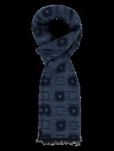 Bild von Schal mit Musterung und Fransen