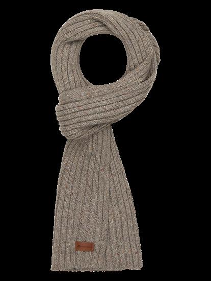 Bild von Schal mit Rippen in melierter Optik
