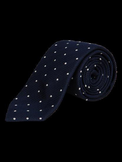 Bild von Krawatte mit Punkten und Struktur