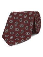 Bild von Krawatte mit geometrischem Muster