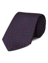 Bild von Krawatte mit Blumenmuster