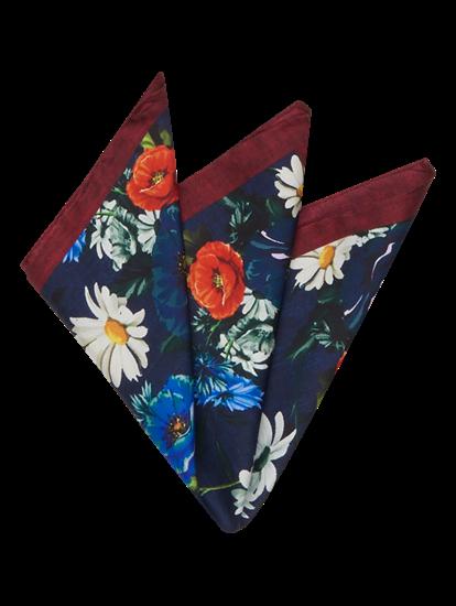 Image sur Pochette avec imprimé floral
