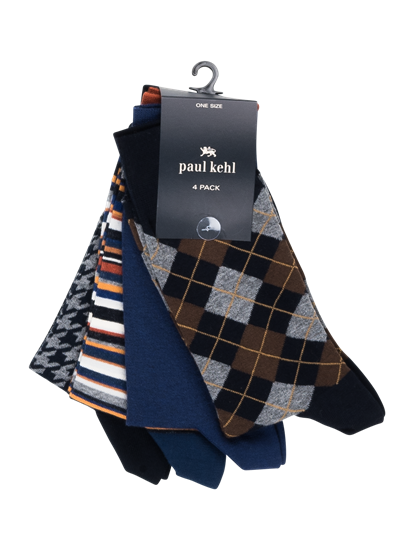 Bild von Socken im 4er-Pack mit Muster-Mix
