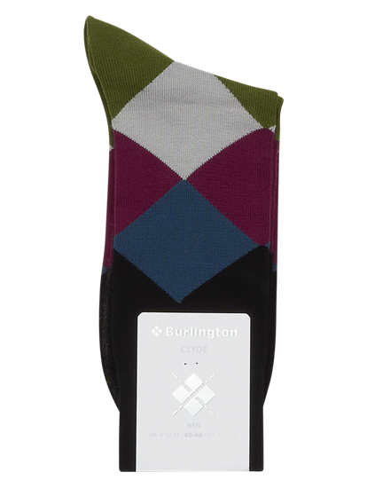 Image sur Chaussettes à carreaux