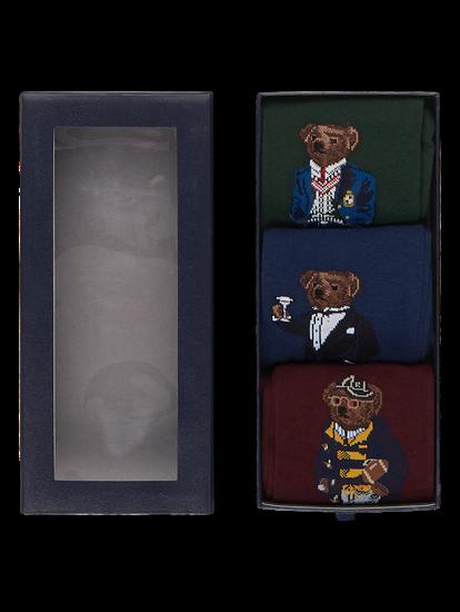 Image sur Pack de 3 paires de chaussettes avec motif ourson