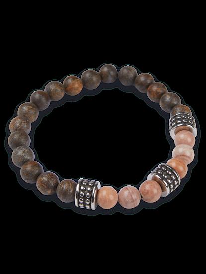 Image sur Bracelet Onyx & quarz de la forêt tropicale