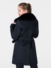 Bild von Doppelreihiger Mantel mit Lammfell-Kragen