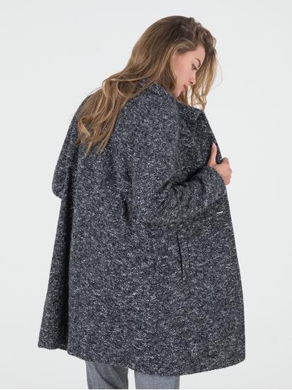 Image sur Manteau laine moucheté maille bouclette