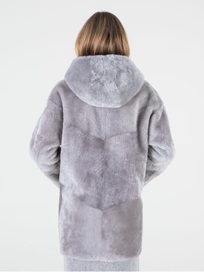 Image sur Manteau en peau d'agneau  à capuche réversible