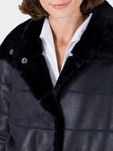 Image sur Manteau réversible matelassé et peau d'agneau