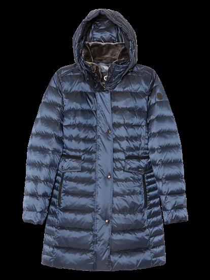 Image sur Manteau doudoune col fausse fourrure détachable
