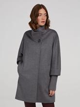 Image sur Manteau laine empiècements tricot détachables