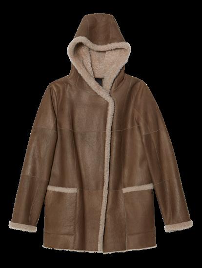 Image sur Manteau cuir doublure peau de mouton