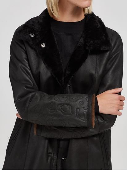 Image sur Manteau réversible fourrure de mouton et motif léopard