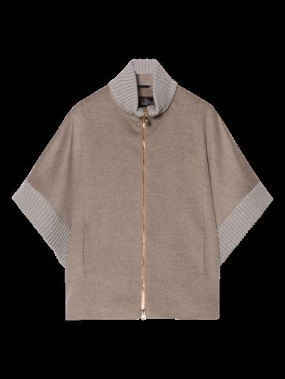 Image sur Cape et empiècements tricot