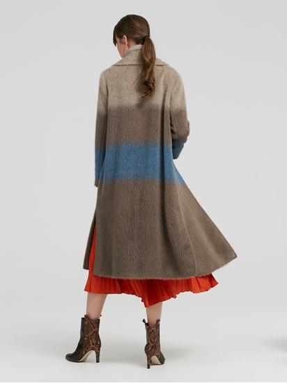 Bild von Mantel aus Wolle mit Streifen