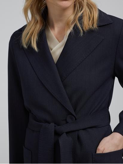 Image sur Manteau laine avec ceinture à nouer