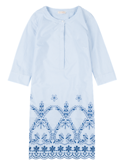 Image sur Robe à rayures et broderies
