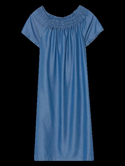 Image sur Robe en jean épaules dénudées