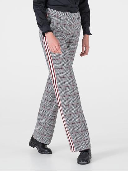 Image sur Pantalon à carreaux rayures sur le côté MALICE