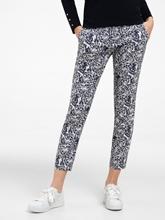 Image sur Pantalon imprimé jacquard MARON