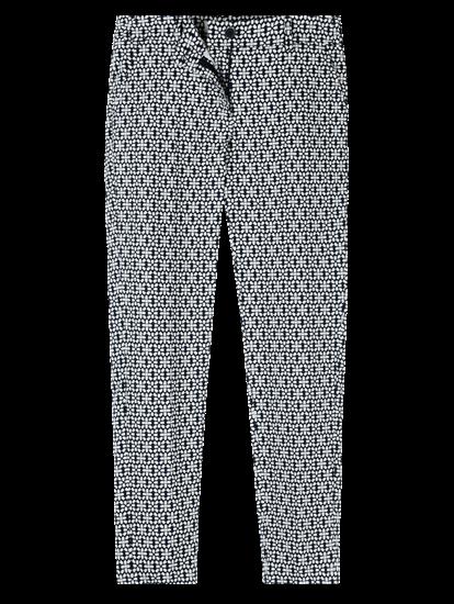 Image sur Pantalon cheville imprimé jaquard MARON