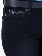 Bild von Verkürzte Skinny Jeans mit Strasssteinen