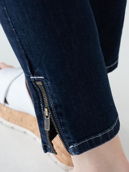 Image sur Jean Slim Fit avec ourlet zippé