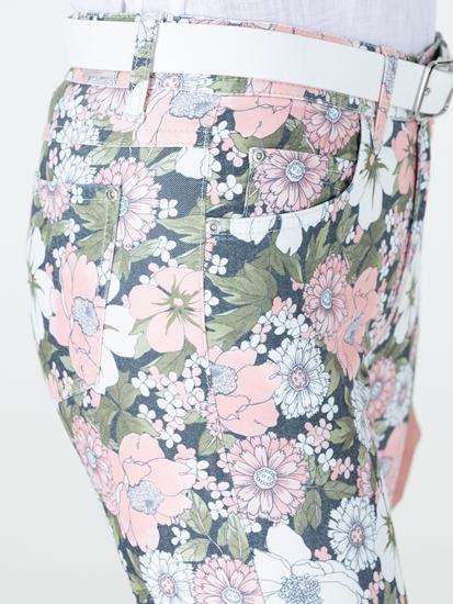 Image sur Jean  Slim Fit imprimé floral