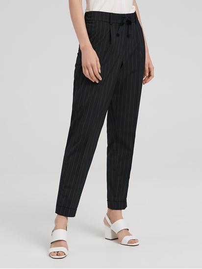 Image sur Pantalon à fines rayures et revers KASSIA