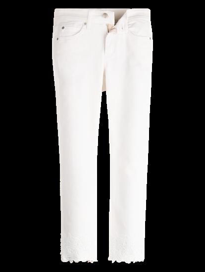 Bild von Jeans mit Spitzen Saum