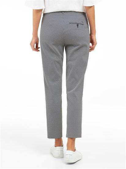 Image sur Pantalon chino Slim Fit avec motif MARON