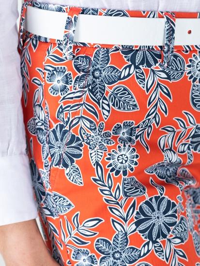 Image sur Pantalon chino avec imprimé floral MARON