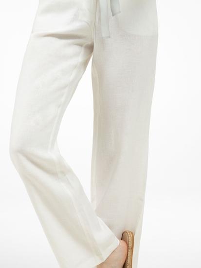 Image sur Pantalon lin avec ceinture