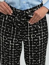 Image sur Pantalon avec taille élastique et noeud