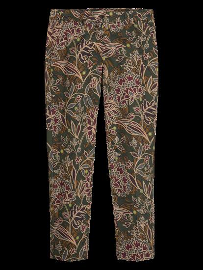 Image sur Pantalon avec imprimé floral MARON