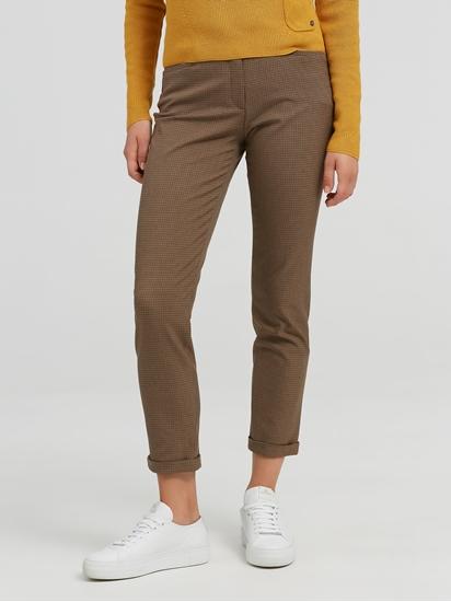Image sur Pantalon business motif pied-de-coq MARON