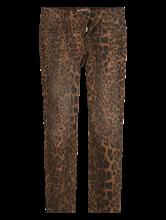 Image sur Denim coloré et imprimé léopard TESS
