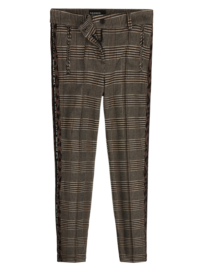 Image sur Hose mit Glencheck-Karo und seitlichen Streifen RHONA