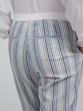 Image sur Pantalon Seersucker à rayures MARON
